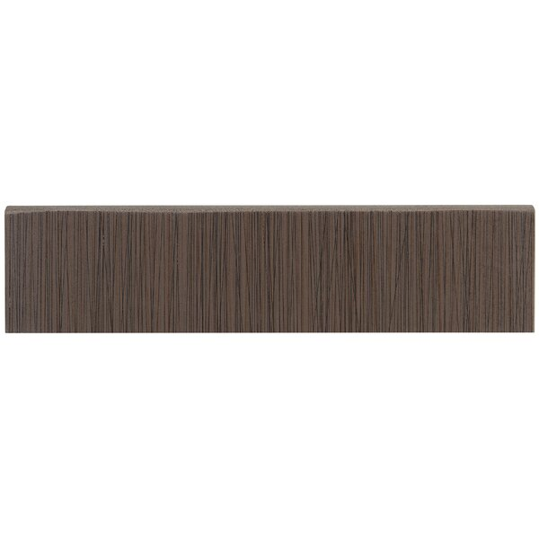 Fabrique 12 x 3 Porcelain Bullnose Tile Trim in Brun Linen by Daltile