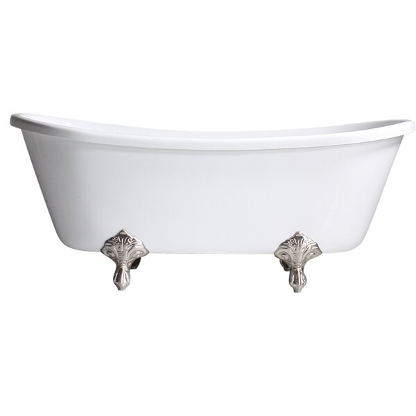 Hotel Acrylic 59 x 29 Freestanding Soaking Bathtub by Baths of Distinction
