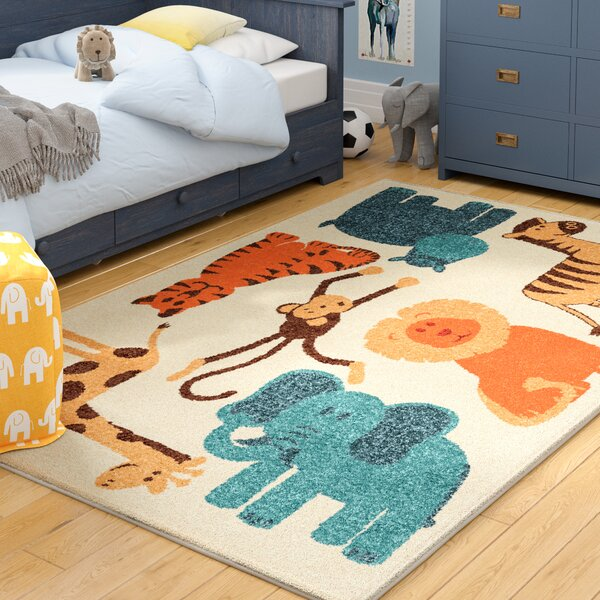 Bedford Beige Area Rug by Harriet Bee