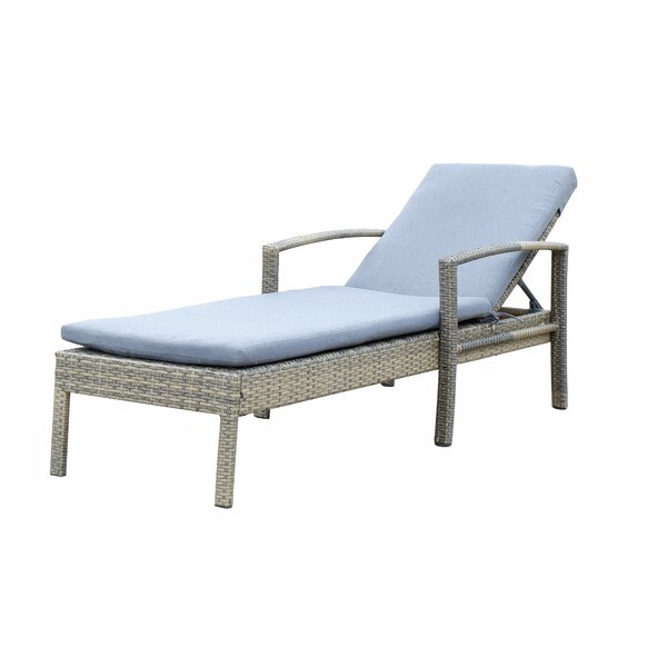 Suai Reclining Chaise Lounge with Cushion by Highland Dunes
