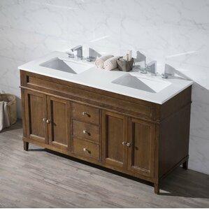 double sink bathroom vanity. Oakmont 59  Double Sink Bathroom Vanity Set Vanities You ll Love Wayfair