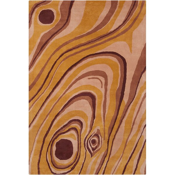 Millwood Hand Tufted Wool Orange/Brown Area Rug by Latitude Run