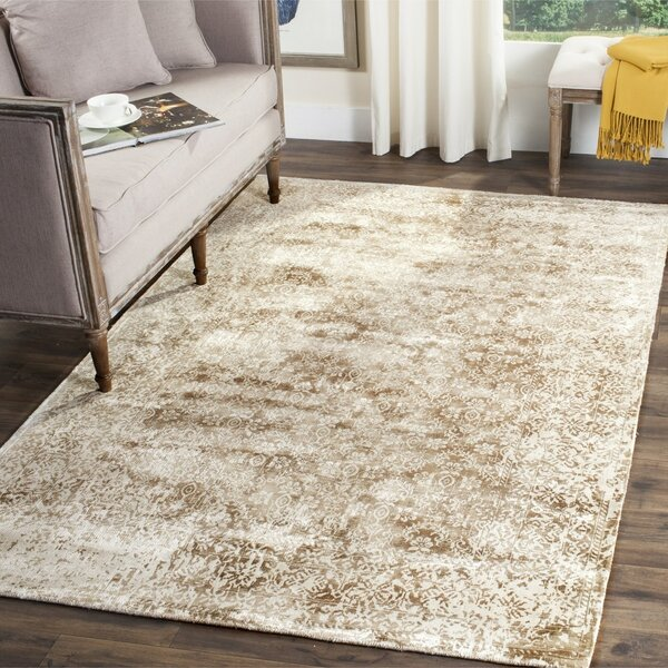 Jessup Hand-Loomed Ivory/Beige Area Rug by Gracie Oaks