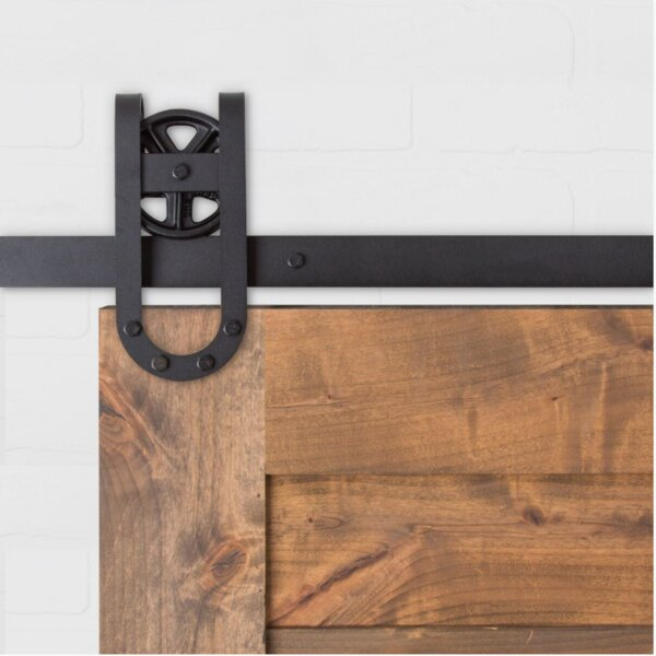 Vintage Horse Shoe Sliding Barn Door Hardware by Artisan Hardware