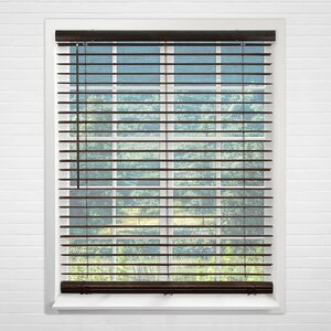 Cordless Vinyl Dark Walnut Horizontal/Venetian Blind