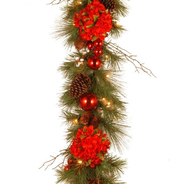 Decorative Pre-Lit Hydrangea Garland by Andover Mi