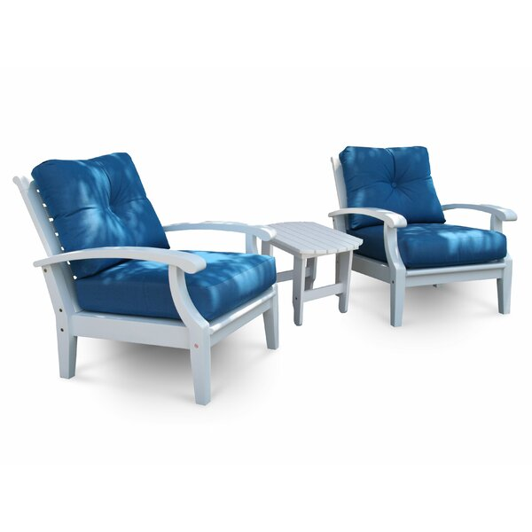 Lowery 3 Piece Deep Seating Sunbrella with Cushions by Rosecliff Heights