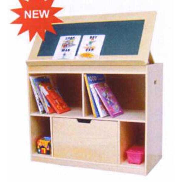 Movable 4 Compartment Book Display by A+ Child Supply