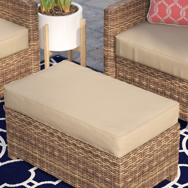 Indoor/Outdoor Sunbrella Ottoman Cushion by Rosecliff Heights
