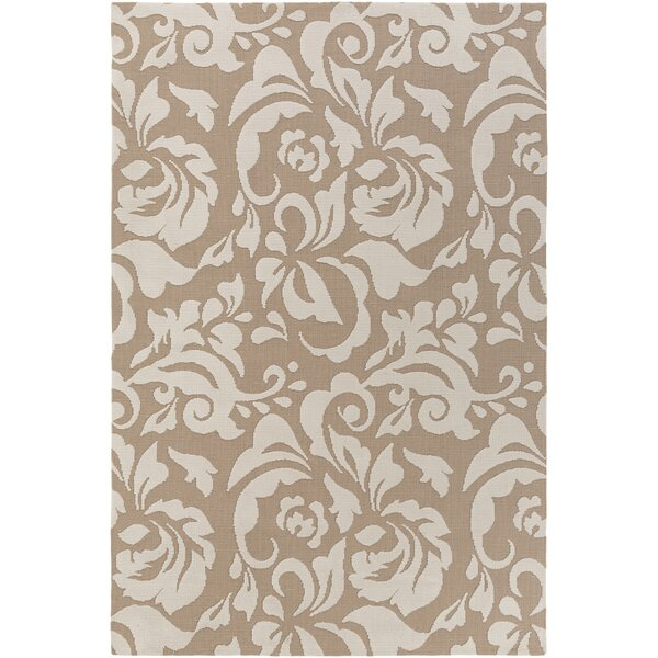 Ducote Tan/Ivory Area Rug by Charlton Home