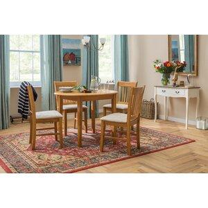 Essgruppe Lincklaen mit ausziehbarem Tisch und 4 Stühlen von ClassicLiving