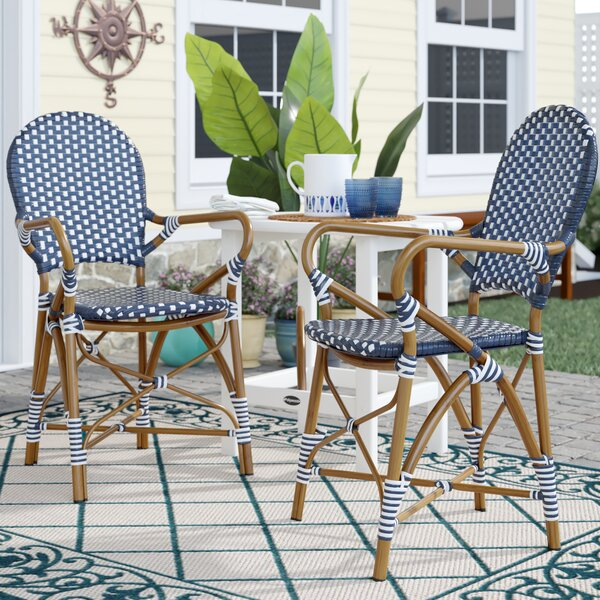 Culpeper Stacking Patio Dining Chair (Set of 2) by Bungalow Rose Bungalow Rose