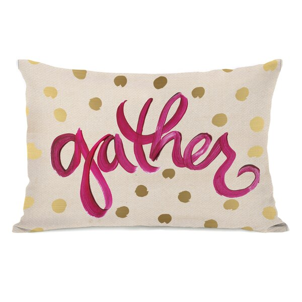 Gather Dots Lumbar Pillow by The Holiday Aisle
