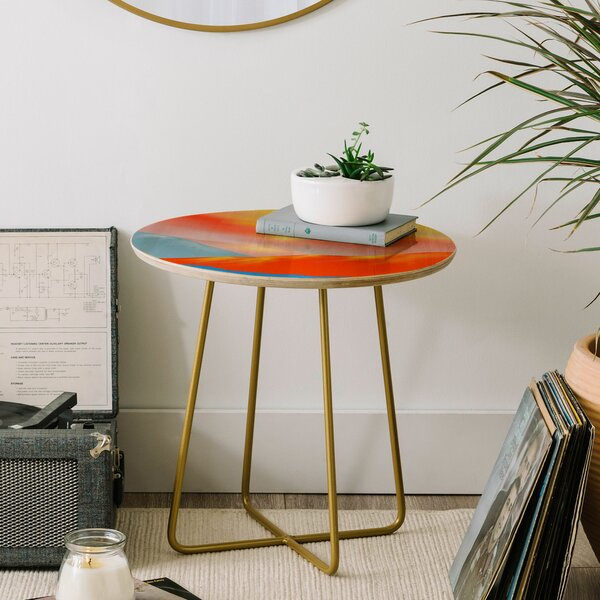 Viviana Gonzalez Minimal Mountains End Table by East Urban Home