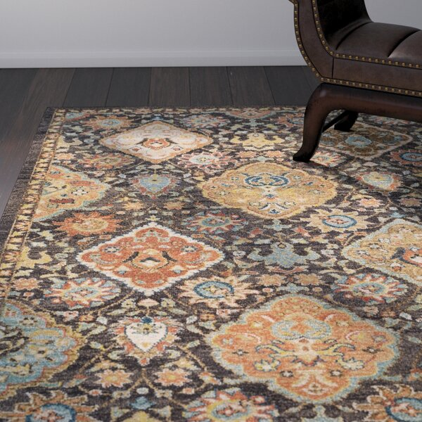 Naranjo Brown Area Rug by World Menagerie