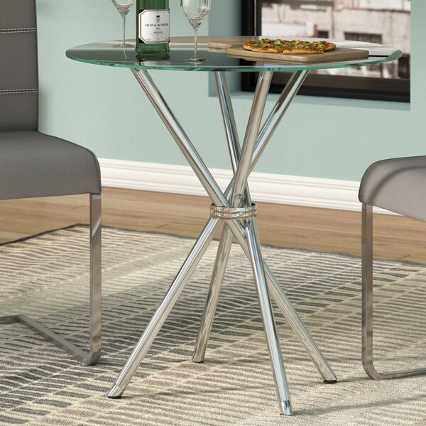 Vince Glass Dining Table by Zipcode Design