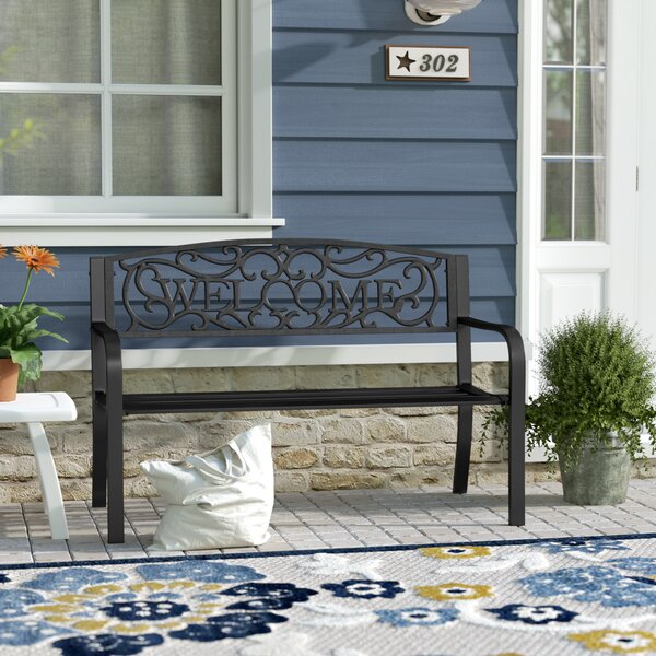 Stanardsville Welcome Vines Decorative Iron Garden Bench By Fleur De Lis Living by Fleur De Lis Living Fresh