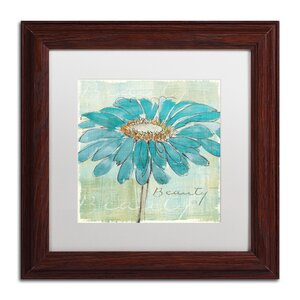 'Spa Daisies I' by Chris Paschke Framed Graphic Art by Trademark Fine Art