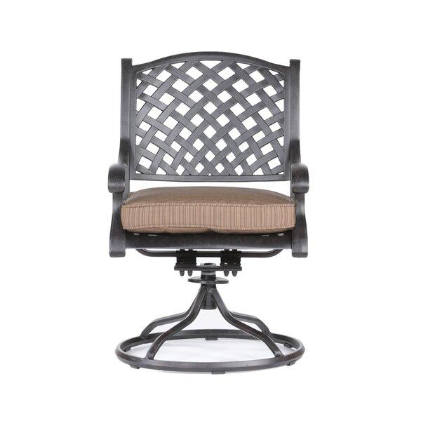Salia Swivel Patio Chair with Cushions (Set of 2) by Fleur De Lis Living Fleur De Lis Living