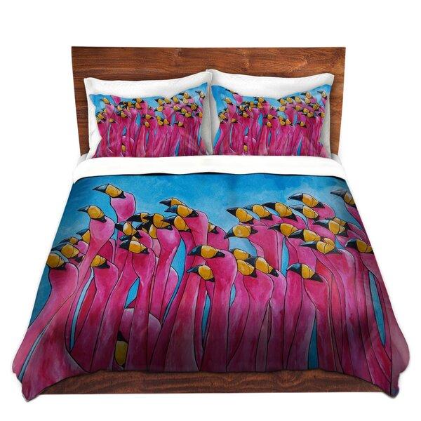 Peace Love and Flamingos Duvet Cover Set