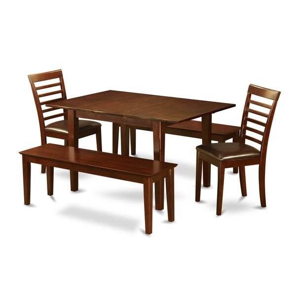 Milan 5 Piece Dining Set By East West Furniture by East West Furniture Coupon
