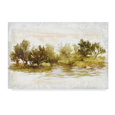 River Bank Bend Acrylic Painting Print On Wrapped Canvas Bay Isle Home Size 16 H X 24 W X 2 D Shefinds