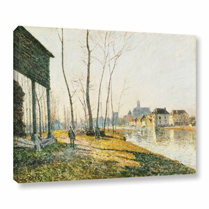 A February Morning in Moret-Sur-Long, 1881 Painting Print on Wrapped Canvas by Alcott Hill