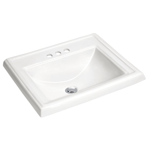 Dawn Vitreous China Rectangular Drop-in Bathroom Sink with Overflow by ANZZI