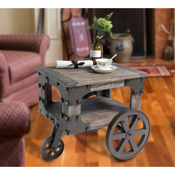 Muriel Wagon End Table with Storage by 17 Stories