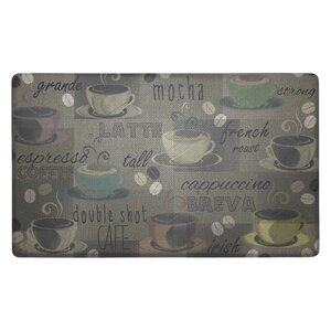 Roasted Coffee Anti-Fatigue Cushioned Chef Kitchen Mat