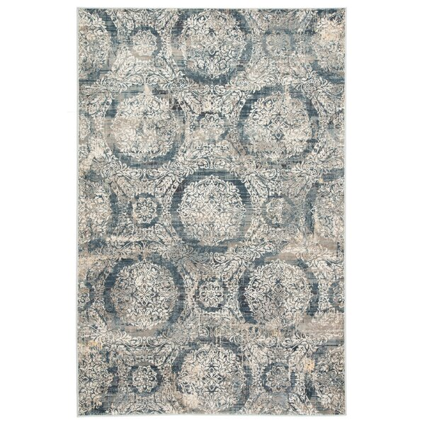 Thunderbolt Beige/Blue Area Rug by Ophelia & Co.