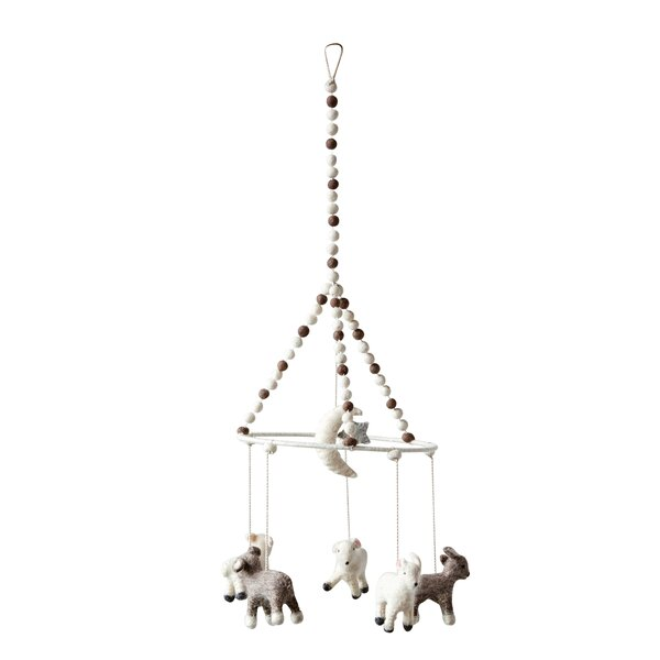 Mineola Wool Baby Lamb Animal Mobile by Greyleigh