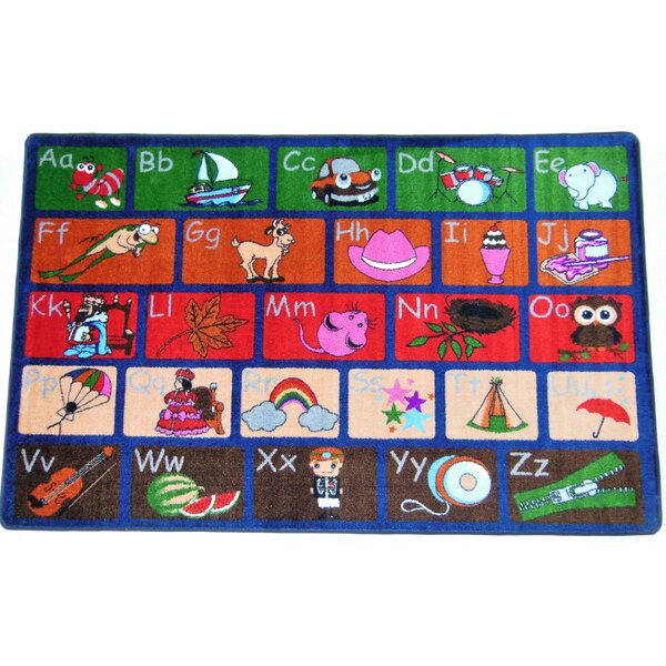 Ingraham ABC Picture Phonics Green/Red Area Rug by Zoomie Kids