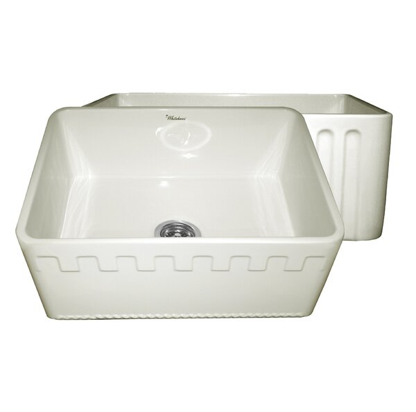 Reversible 24 L x 18 W Fireclay Kitchen Sink by Whitehaus Collection