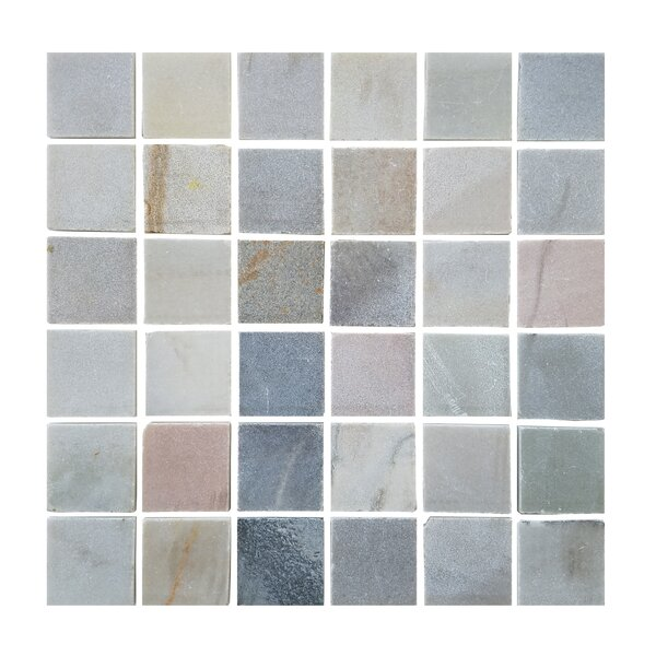 1.87 x 1.87 Stone Mosaic Tile in Desert Gray by Abolos