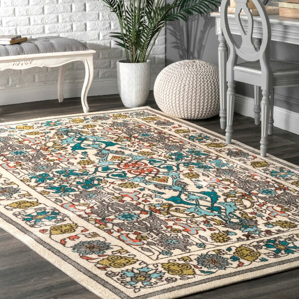 Collins Blue/Yellow Area Rug by Mistana
