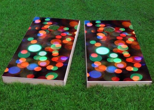 Lights Cornhole Game (Set of 2) by Custom Cornhole Boards