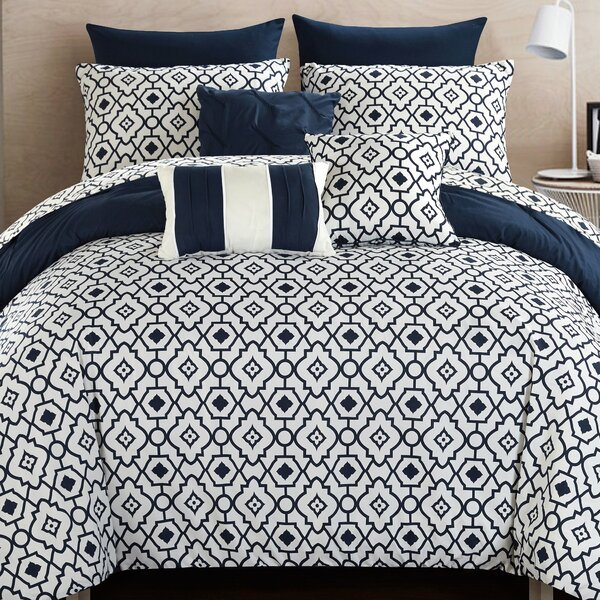Sabrina 10 Piece Reversible Comforter Set by Chic Home