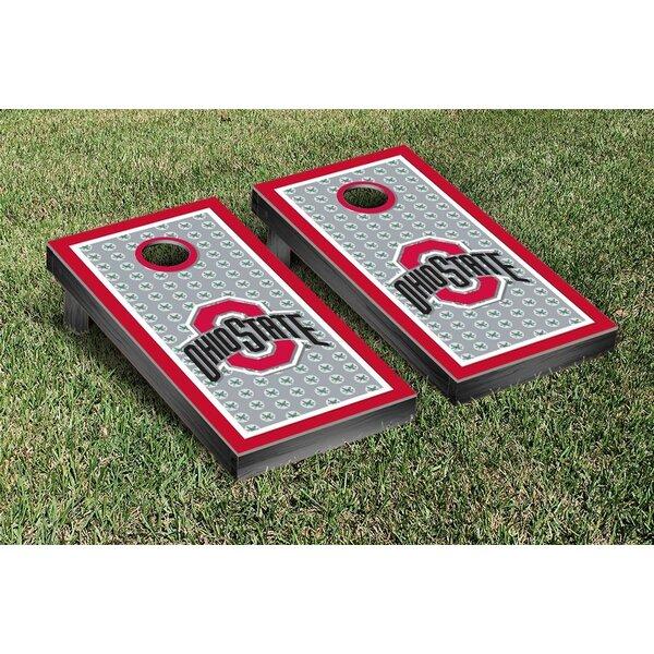 NCAA Ohio State OSU Buckeyes Border Buckeye Leaves Version Cornhole Game Set by Victory Tailgate