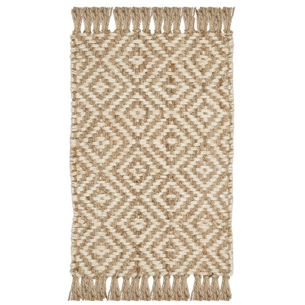Stokes Natural Fiber Hand Tufted Ivory Area Rug  by Bungalow Rose