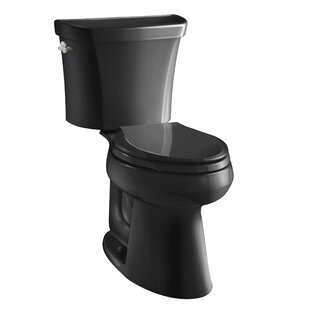 Highline Comfort Height Two-Piece Elongated Dual-Flush Toilet with Class Five Flush Technology and Left-Hand Trip Lever ByKohler