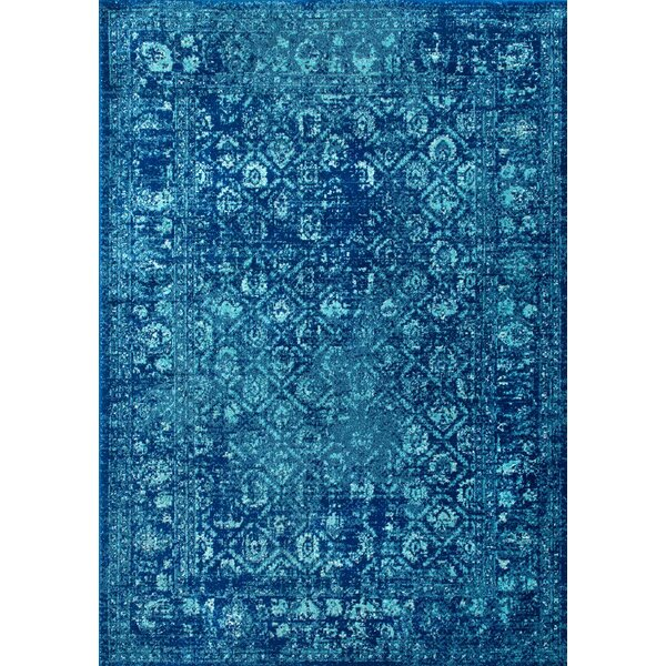 Moses Blue Area Rug by Bungalow Rose
