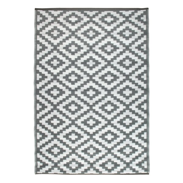 Nirvana Gray/White Indoor/Outdoor Area Rug by Green Decore