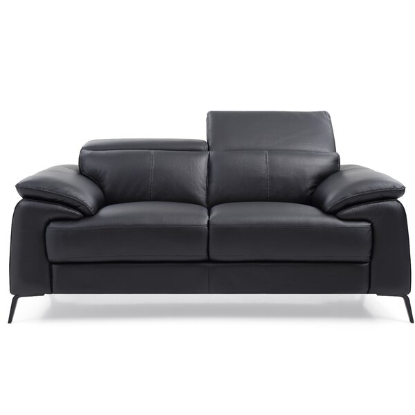Popular Brand Mckittrick Genuine Leather Loveseat by Orren Ellis by Orren Ellis