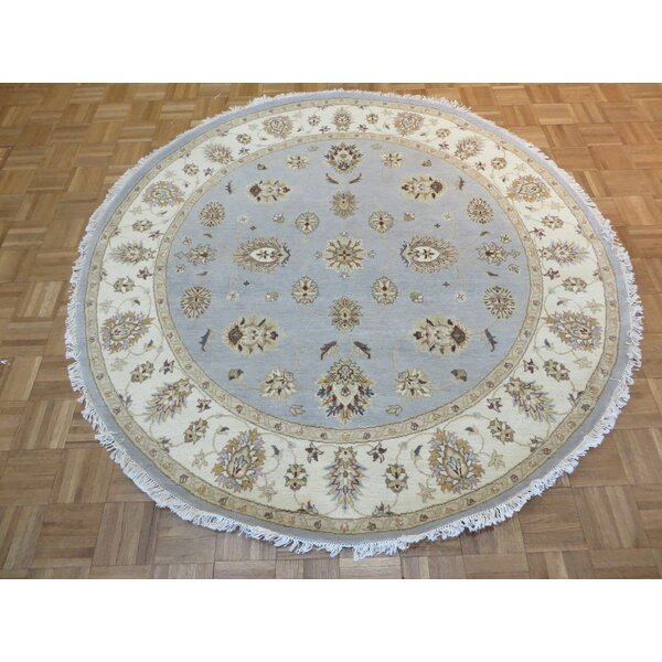 One-of-a-Kind Rhyne Peshawar Oushak Hand-Knotted Sky Blue Area Rug by Astoria Grand