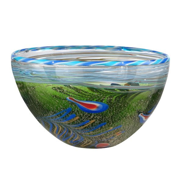 Bigelow Moss and Feather Bowl by Bay Isle Home