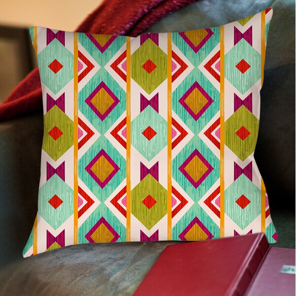 Ikat Printed Throw Pillow by Manual Woodworkers & Weavers