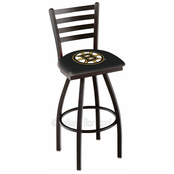 NHL Adjustable Height Swivel Bar Stool by Holland