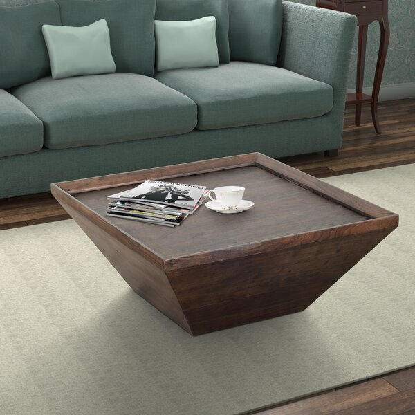 Henriette Solid Wood Coffee Table By Union Rustic