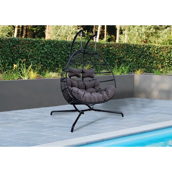 Derbyshire Double Swing Chair with Stand by Bungalow Rose Bungalow Rose